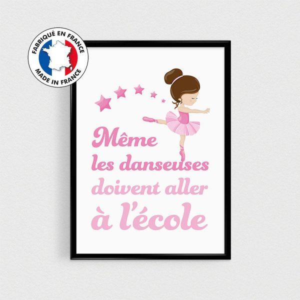 Affiche citation en français  Danseuse étoile - 21x30cm - poster pour enfant - esprit scandinave poster humour couleurs - poster danseuse