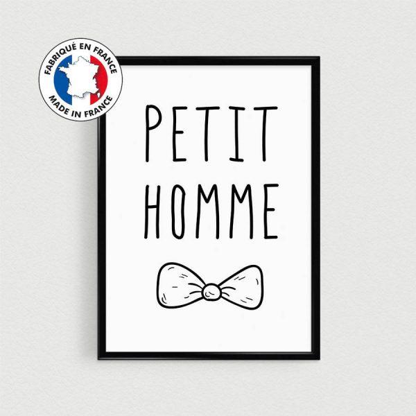 Poster citation garçon en français, décoration chambre enfant, dans l'esprit scandinave à mettre dans un cadre